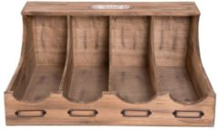 Clayre & Eef Bestekbak 6H1592 40*28*17 cm - Bruin Hout Besteklade Bestekla
