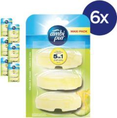 Ambi Pur Lemon Navulling - Voordeelverpakking 3x6 Stuks - Toiletblok