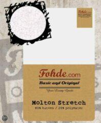 Witte Fohde Hoeslaken Molton Stretch hoeslakens - 80 X 210 cm