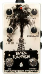 Old Blood Noise Endeavors Black Fountain V3 Oil Can Delay Pedal with Tap Tempo