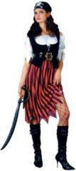 """E-Carnavalskleding.nl Generik Verkleedkleding Caribische Piraat """"Lady"""" voor vrouwen Bruin Zwart - S"""
