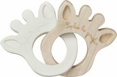 Bruine Sophie de giraf So Pure rubber en hout silhouette bijtring