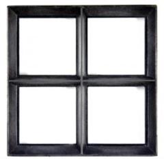 Westwood Stalen raam | Vast | 100 x 120 cm | Dubbel glas | Zwart gecoat