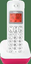 Grijze Profoon PDX-900BW DECT Telefoon - Verlicht display - 50 geheugens - Roze