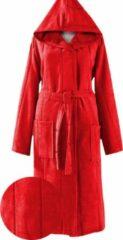 Merkenloos Badjas rood (S/M) met capuchon 100% katoen