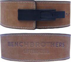 Benchbrothers Powerlifting riem nubuck - lever belt - powerlifting belt - halter riem - Beige - S