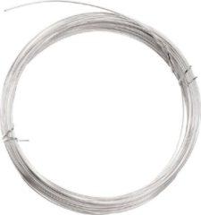 1x Hobby aluminium draad zilver 1 mm x 400 cm - Zilveren kleur - Bloemendraad/bloemdraad binddraad - Dik aluminiumdraad hobbymateriaal
