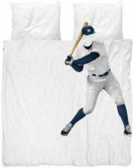 Witte Snurk Baseball Player dekbedovertrek