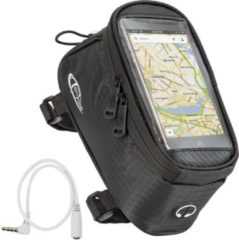 TecTake - Frametas fietstas voor o.a. smartphone e.d. zwart L 401615