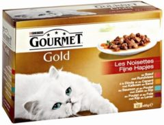 Gourmet Gold Multipack 12x85 g - Kattenvoer - Rund - Kattenvoer