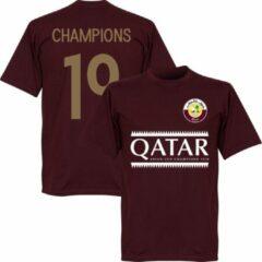 Bordeauxrode Retake Qatar 2019 Asian Cup Winners T-Shirt - Bordeaux Rood - XL