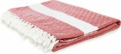 Lumaland - Deken - Sprei - 100% katoen - in verschillende kleuren verkrijgbaar - ca. 200 x 240 cm - Rubin Rood
