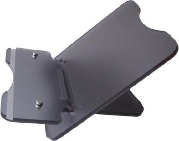 Afbeelding van Antraciet-grijze Merkloos / Sans marque Notebook standaard - Laptop standaard verstelbaar en inklapbaar kleur antraciet