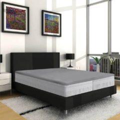 Nightsrest Vp Dubbel Jersey Topper Hoeslaken - Grijs Maat: 80/90x200/220 + 12cm