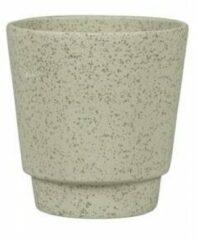 NDT International Pot Odense Plain Sand groen M 15x15 cm groene ronde bloempot voor binnen