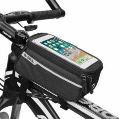 Sports4you Frametas voor Smartphone - Telefoonhouder Fiets - Universele Fietstas - Extra Opbergruimte - Powerbank | Zwart