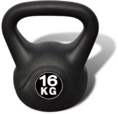 Zwarte VidaXL Kettlebell 16 kg.