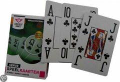 Witte Zeldzaamgoed.nl ® 5x Senioren ( EXTRA GROTE INDEX ) speelkaarten Bridge Poker
