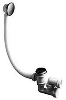 """Afbeelding van Plieger badafvoercombinatie quick-clac 6/4"""" regelbaar d.m.v. drukken 40mm klemaansluitng chroom"""