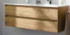Thebalux Line 45 Onderkast Greeploos 120x45x50 cm met 2 Sifonuitsparing Nebraska Eiken