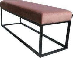 Damiware Bankje velvet fluweel 121cm Couchy - Product Kleur: Velvet Roze