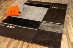 Pergamon Teppich Modern Trendline Schoko Blocks in 5... 80x150 cm