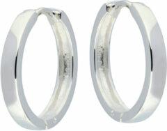 Best Basics Zilveren 107.0073.20 Oorringen met vierkante buis 3 mm