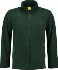 L&S Donkergroen fleece vest met rits voor volwassenen 2XL (44/56)