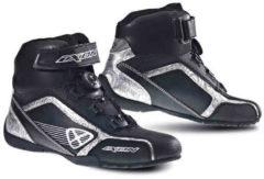 Ixon Assault Ladies scarpe del motociclo Nero/Argento 36