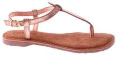 Lazamani leren sandalen roze