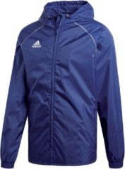 Marineblauwe Adidas Core 18 Sportjas Heren - Dark Blue/White - Maat M