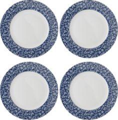 Blauwe Laura Ashley set van 4 Dinerborden 26 cm Sweet Allysum
