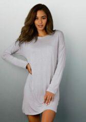 Grijze LASCANA nachthemd in klassiek model