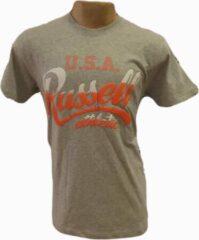 Russell Athletics Heren T.Shirt - Grijs/Oranje - Maat S