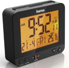 Zwarte Hama Radiogestuurde Wekker RC 550 Met Nachtlicht-functie