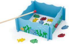 Viga Toys magnetisch visspel junior 28 x 28 cm hout blauw