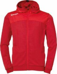 Kempa Emotion 2.0 Hooded Sportjas - Maat 164 - Unisex - rood