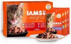 Iams cat delights multipack land collection kattenvoer 12x85 gr