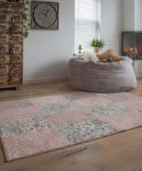 Patchwork vloerkleed factum Joy de Vivre - roze 160x230 cm