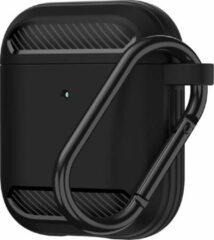 WiWu Apple Airpods 1/2 hoesje - Premium Siliconen beschermhoes - 3.0 mm - Zwart