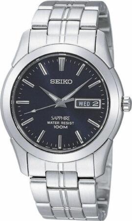 Afbeelding van Seiko Herenhorloge met dag- en datum en saffierglas SGG717P1