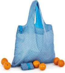 Turquoise Cedon Boodschappentas Fashionista 50 X 42 Cm Polyester Blauw
