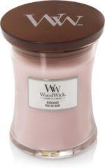 Roze Woodwick Rosewood Medium kaars