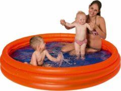 Merkloos / Sans marque Oranje opblaasbaar zwembad 175 x 31 cm speelgoed - Rond zwembadje - Pierenbadje - Buitenspeelgoed voor kinderen