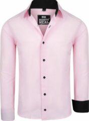 Merkloos / Sans marque Rusty Neal heren overhemd basic roze