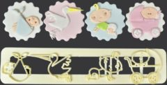 Creme witte FMM Sugarcraft FMM Adorable Baby Set