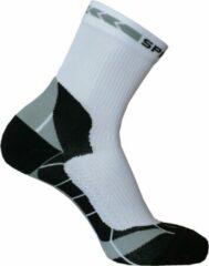 Grijze Spring Prevention Socks Short L White/Grey