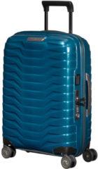 Blauwe Samsonite Proxis handbagage spinner 55 cm petrol blue