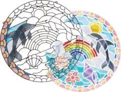 Melissa &amp Doug Hobby Glasdecoratie Dolfijnen