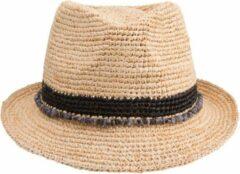 Emthunzini Hats - Trilby zonnehoed voor dames - Roxy - Zwart - maat 58CM